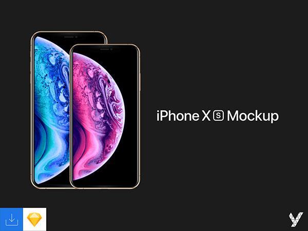 Free-New-iPhone-Xs-Xs-Max-Sketch-Mockup