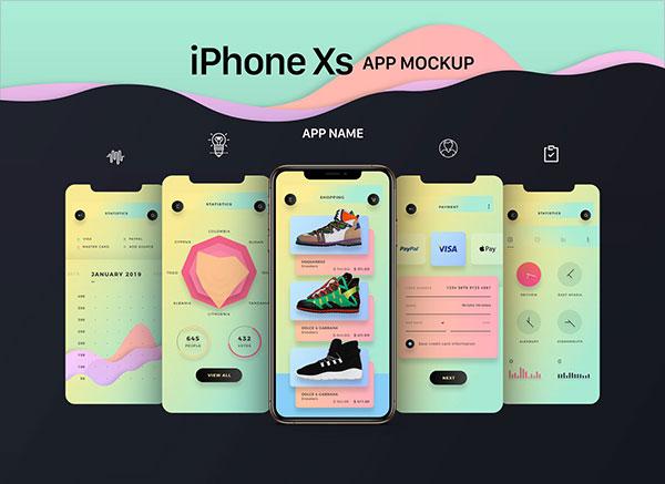 Free-iPhone-XS-App-Mockup-PSD