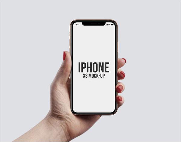Freebie-iPhone-XS-in-Hand-Mockups
