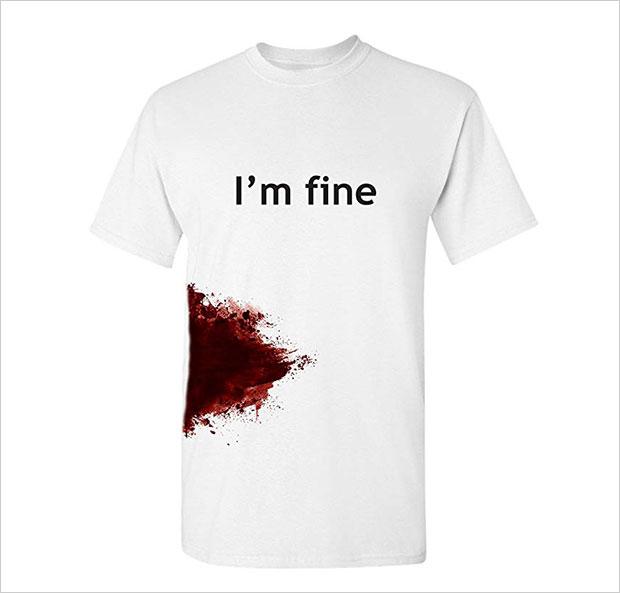 I-am-Fine-Halloween-Cool-Funny-T-Shirt