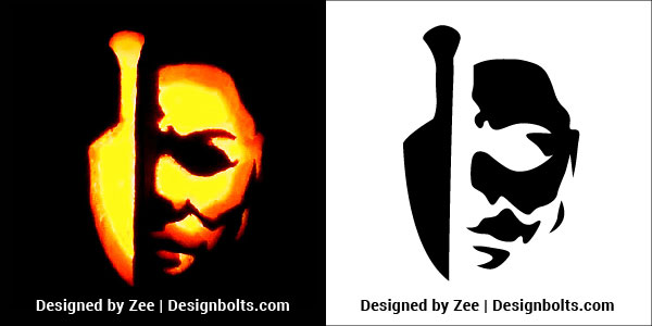 Michael Myers Pumpkin Carving Stencils Patterns Printable Ideas 2018