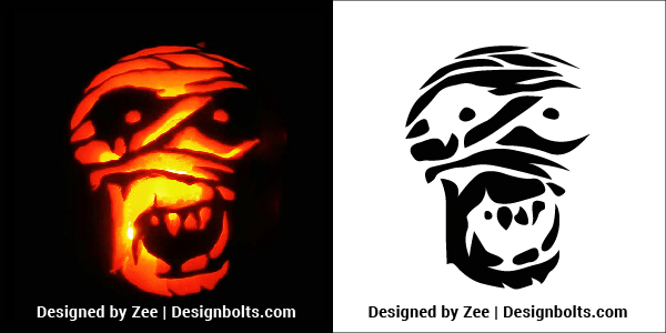 Mummy-Pumpkin-Carving-Stencils-Patterns-Ideas-2018