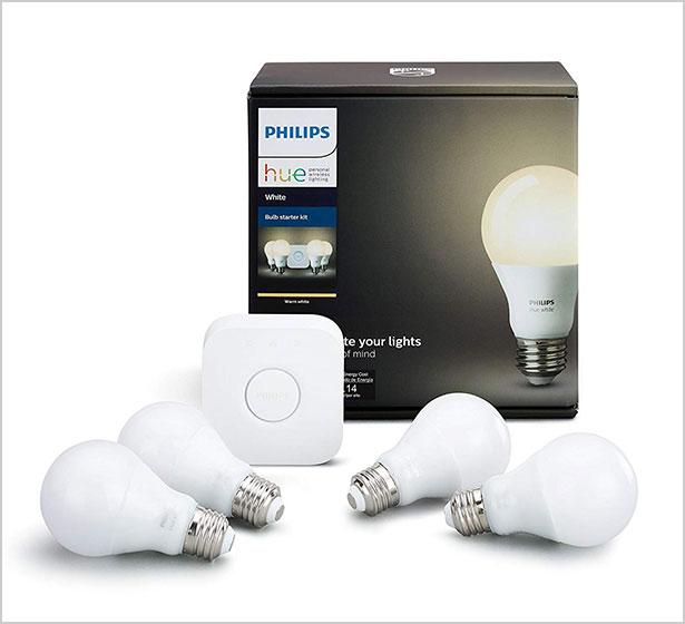 Philips-Hue-White-A19-60W-Equivalent-LED-Smart-Bulb-Starter-Kit