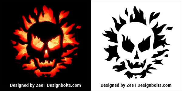 Skull Pumpkin Carving Stencils Patterns Printable Ideas 2018