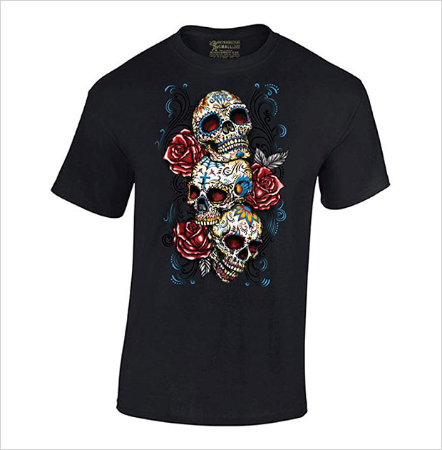 Skulls-Vintage-Halloween-T-Shirt
