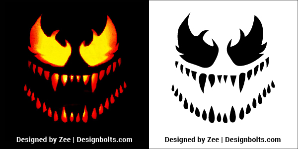 Venom-Pumpkin-Carving-Stencils-Patterns-Ideas-2018