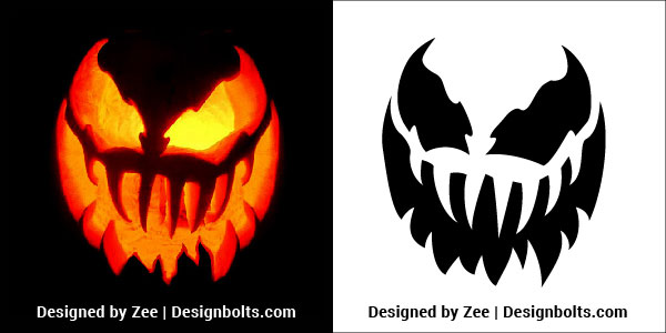 Venom Pumpkin Carving Stencils Patterns Printable Ideas 2018