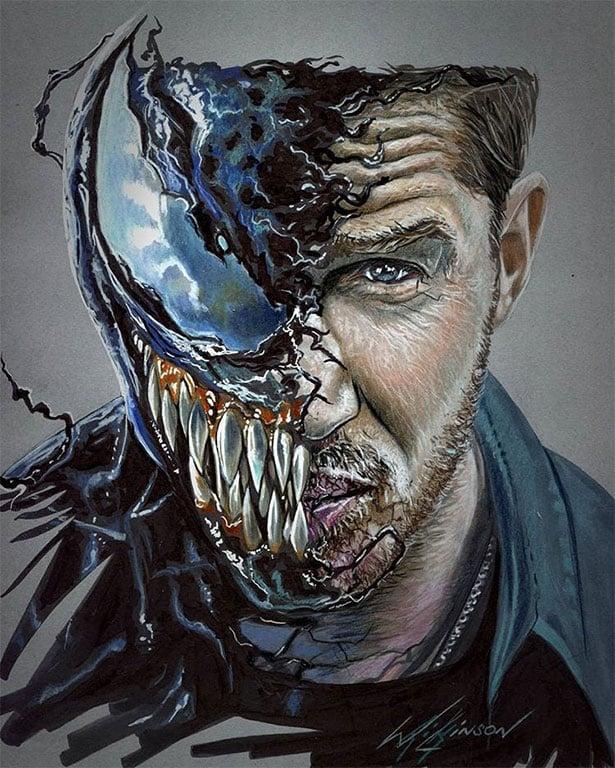 30 Most Amazing Venom Movie 2018 Fan Art Illustrations