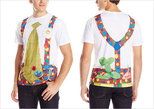 Faux-Real-Men's-Clown-Halloween-T-Shirt