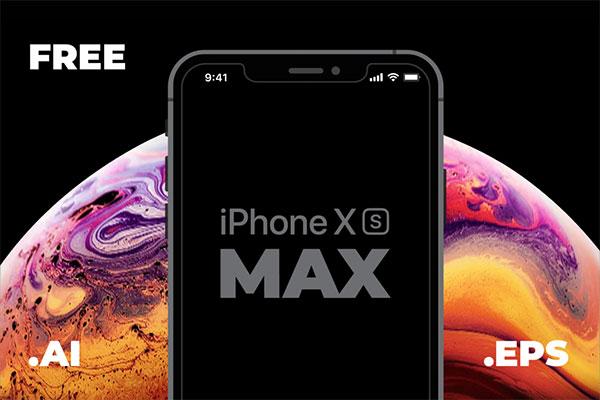 iPhone-XS-Max-vector-mockup-EPS