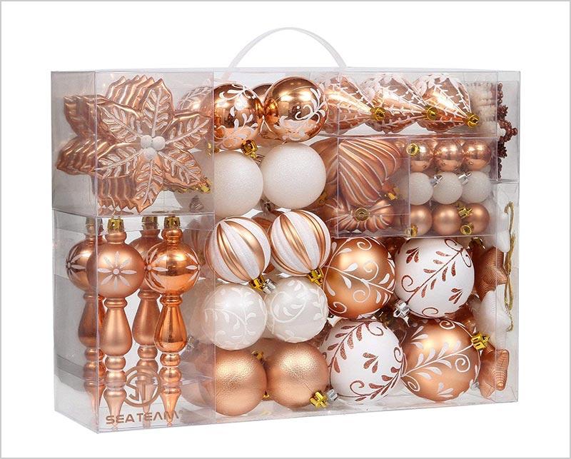 108-Pack-Assorted-Shatterproof-Christmas-Ball-Ornaments-Set-2018