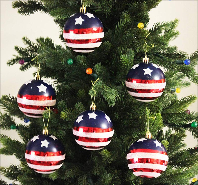 24pk-60mm-Stars-&-Stripes-Christmas-Tree-Ball-Ornaments