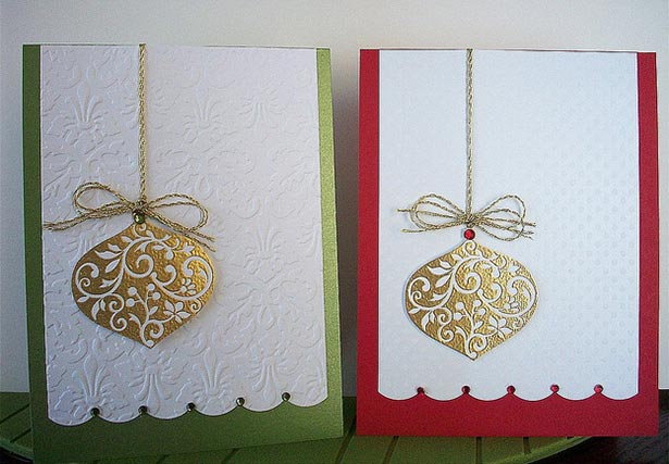Christmas-Baubles-dry-embossed-Card-for-Christmas