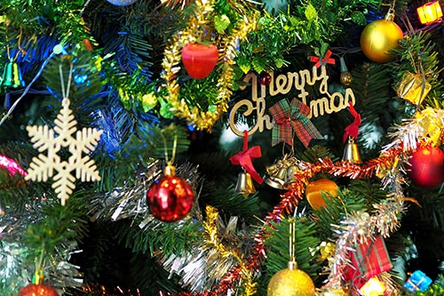 Christmas-tree-decorations-stock-image