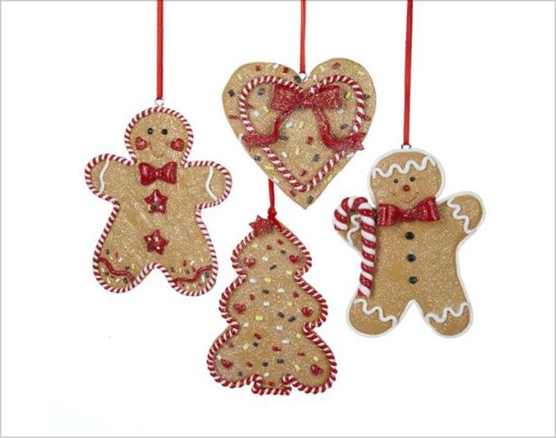 Gingerbread-Men,-Tree-and-Heart-Ornament-Set