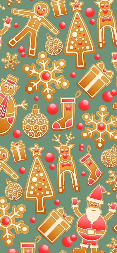 Gingerbread-iPhone-Xs-Max-Wallpaper