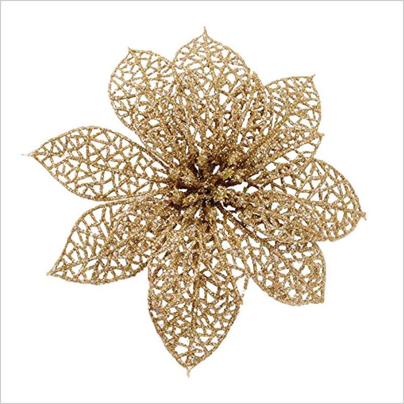 Glitter-Gold-Poinsettia-Christmas-Tree-Ornaments