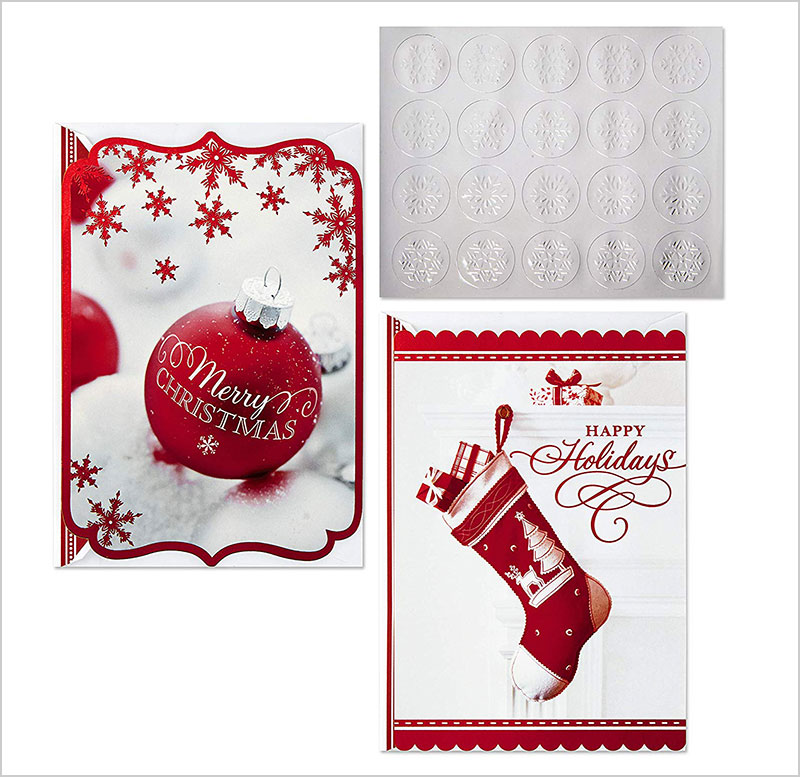 Hallmark-Christmas-Boxed-Card-Assortment,-Ornament-and-Stocking