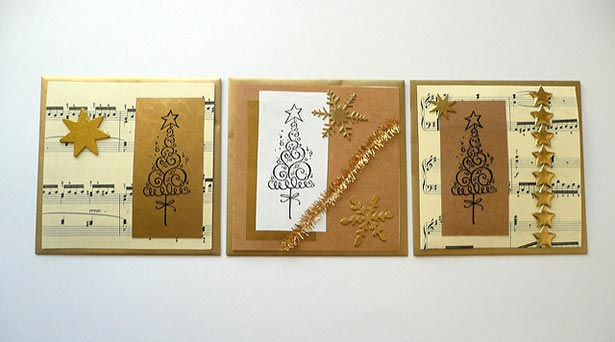 Handmade-Golden-Christmas-Cards
