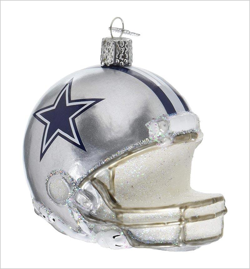 Old-World-Christmas-Glass-Blow-Ornament-Dallas-Cowboys-Helmet