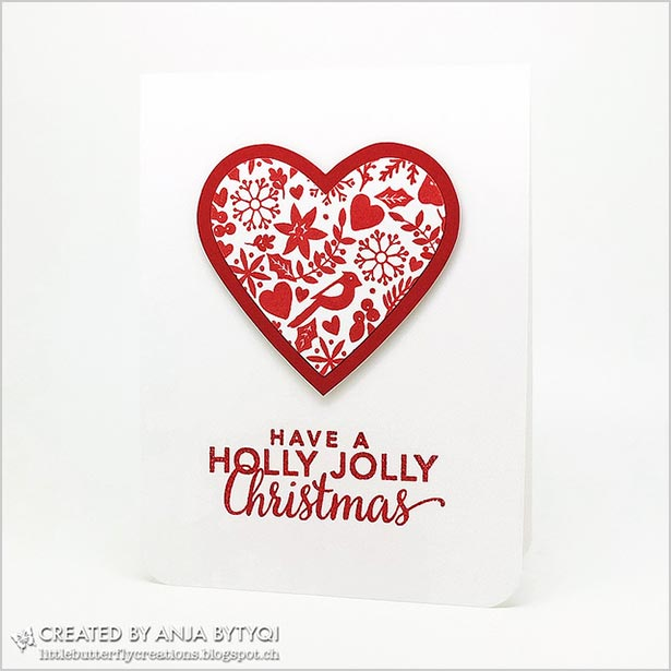Red-and-white-chrismtas-card-handmade