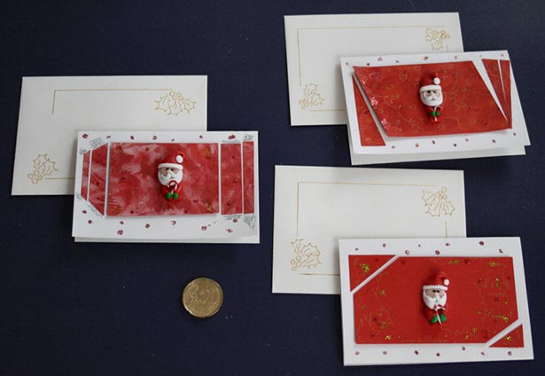 Santa Claus Christmas Card Handmade