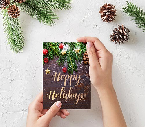 christmas-holidays-card-stock-image