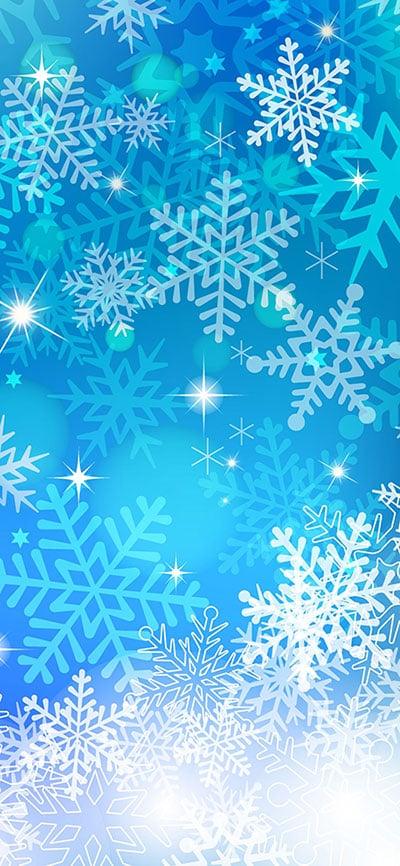snowflake-iPhone-Xs-Max-Background