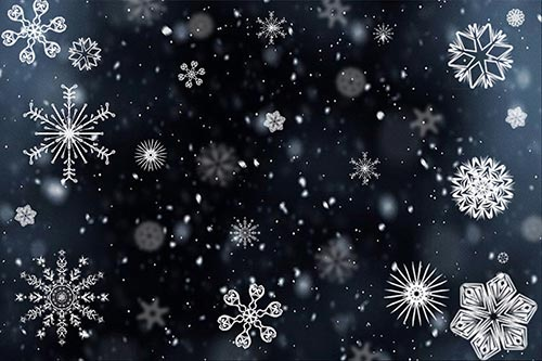 snowflakes-background
