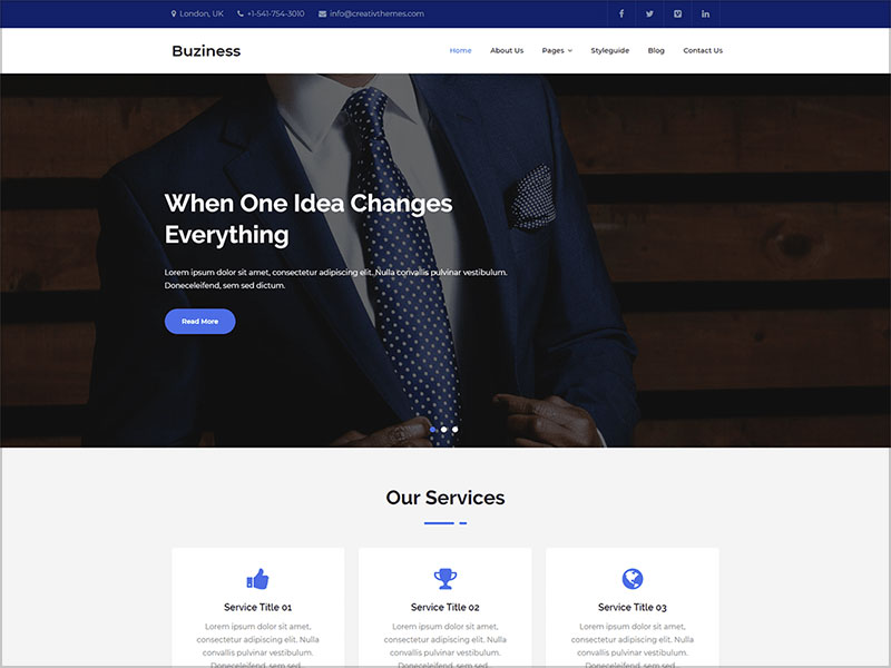 Buziness-Multipurpose-business-WordPress-Theme-2019
