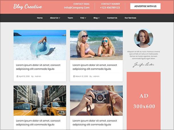 Creative-Blog-Free-Blog-News-WordPress-Theme-Child-of-Fino-theme