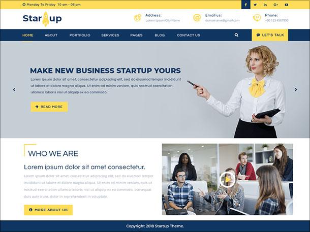 Multipurpose-Startup-professional-creative-WP-Theme-2019