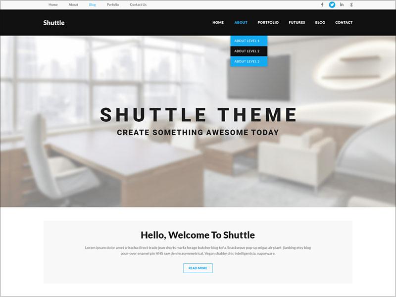 Shuttle-goBusiness-awesome-free-Wordpress-theme-of-Shuttle-Pro