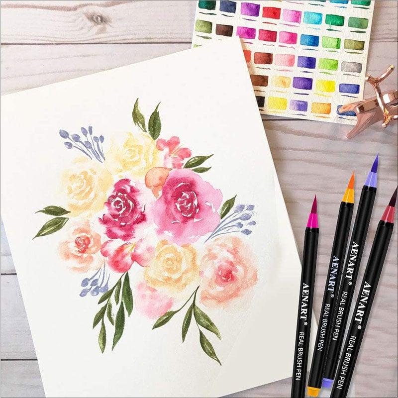 Aen-Art-Watercolor-Real-Brush-Pens-Set