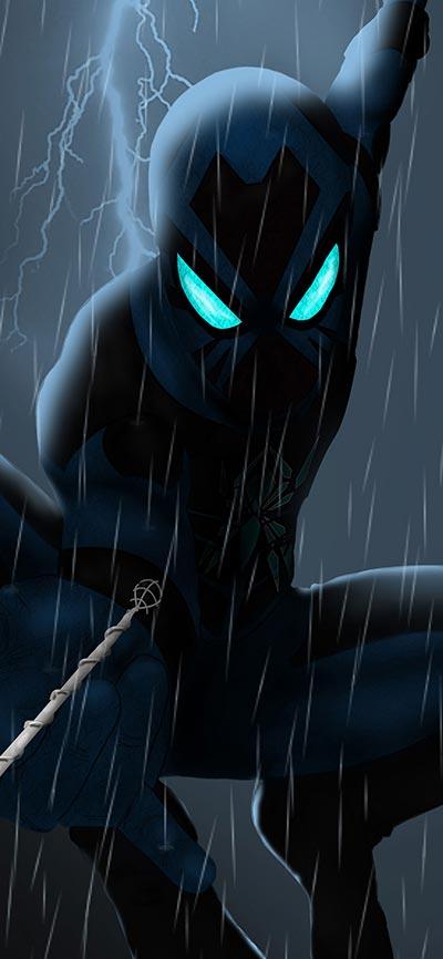 Black-spider_man_iPhone-X-Wallpaper