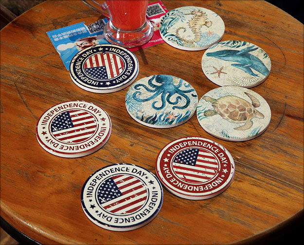 Ceramic-Coaster-Set-of-4,Absorbent-Stone-Coasters