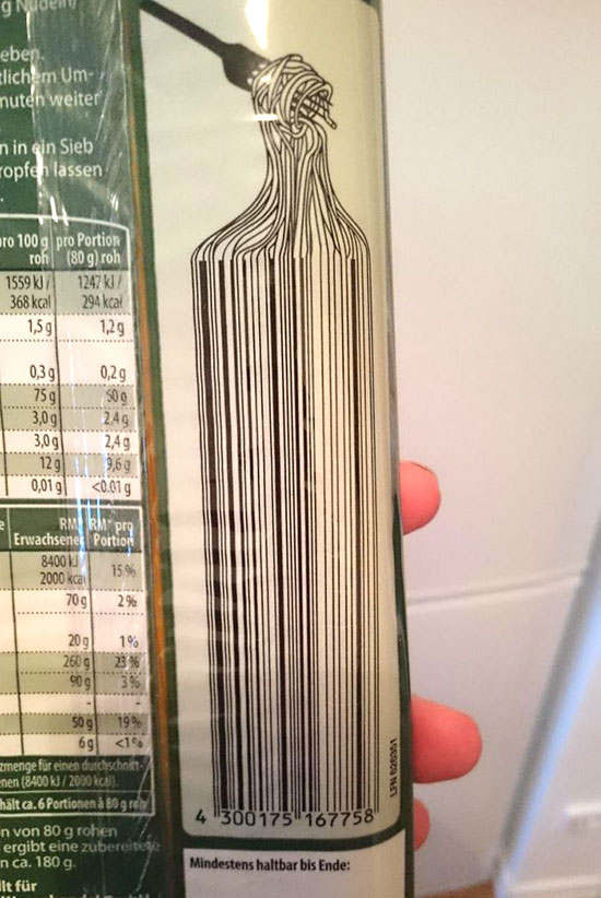 Clever-Barcode-Spaghetti-Packaging-barcode