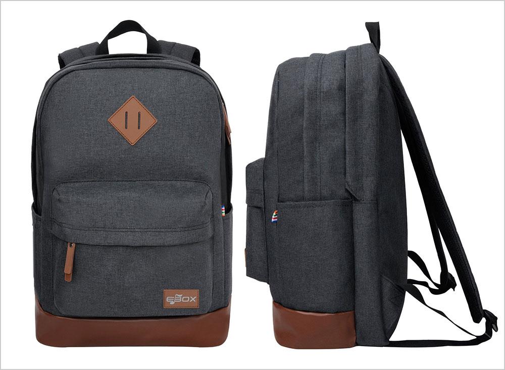 EBOX-2-Layer-School-Backpack-Laptop-Rucksack-Fits-14-15