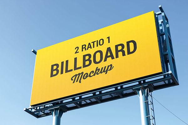 Free-2-Ratio-1-Billboard-Mockup-PSD