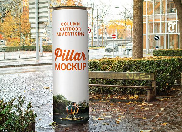 Free-Column_Outdoor-Advertising-Pillar-Mockup-PSD
