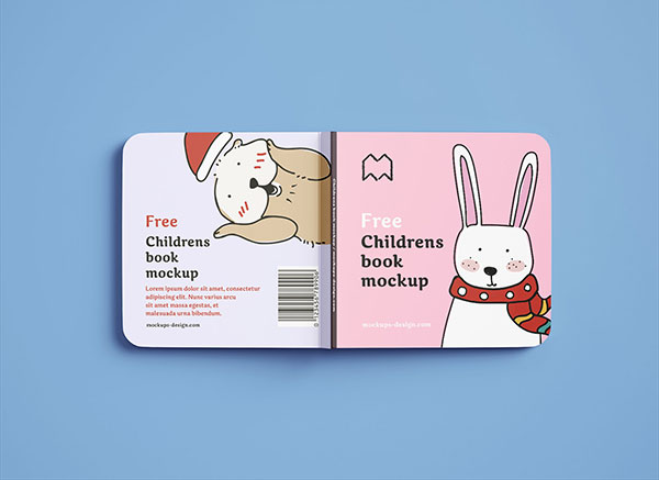 Free-Square-Childrens-Book-Mockup-PSD-Set-2