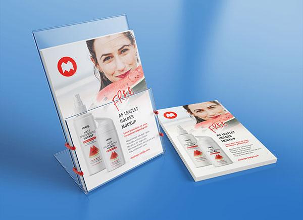 Free-Transparent-Leaflet-Flyer-Holder-Stand-Mockup-PSD-Set