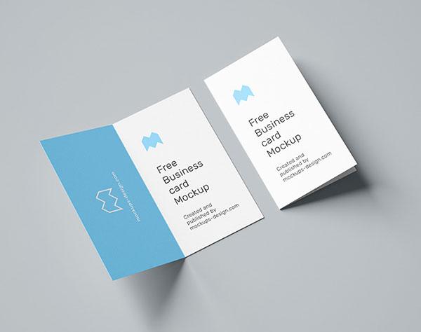 Free-Vertical-Folded-Business-Card-Mockup-PSD-Set
