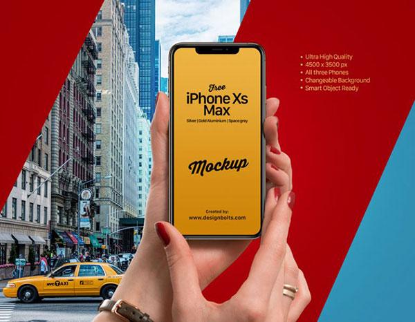 Free-iPhone-Xs-Max-in-Female-Hand-Mockup-PSD-768x597