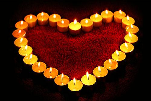 Heart-Candles-Wallpaper