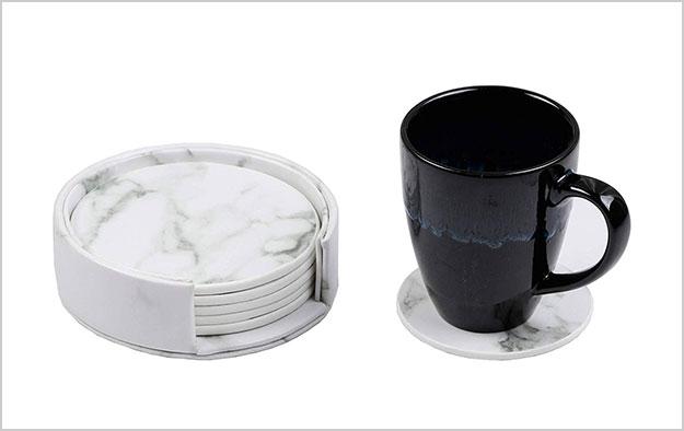 Homcomoda-Coasters-PU-Leather-Heat-Resistant-Marble-Coaster