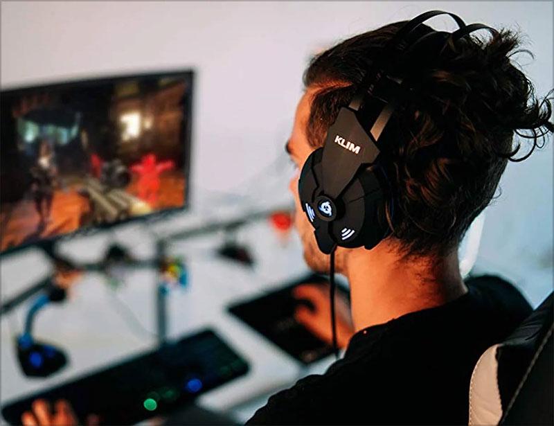 Klim Impact - USB Gaming Headset High Surround Sound Strong Bass
