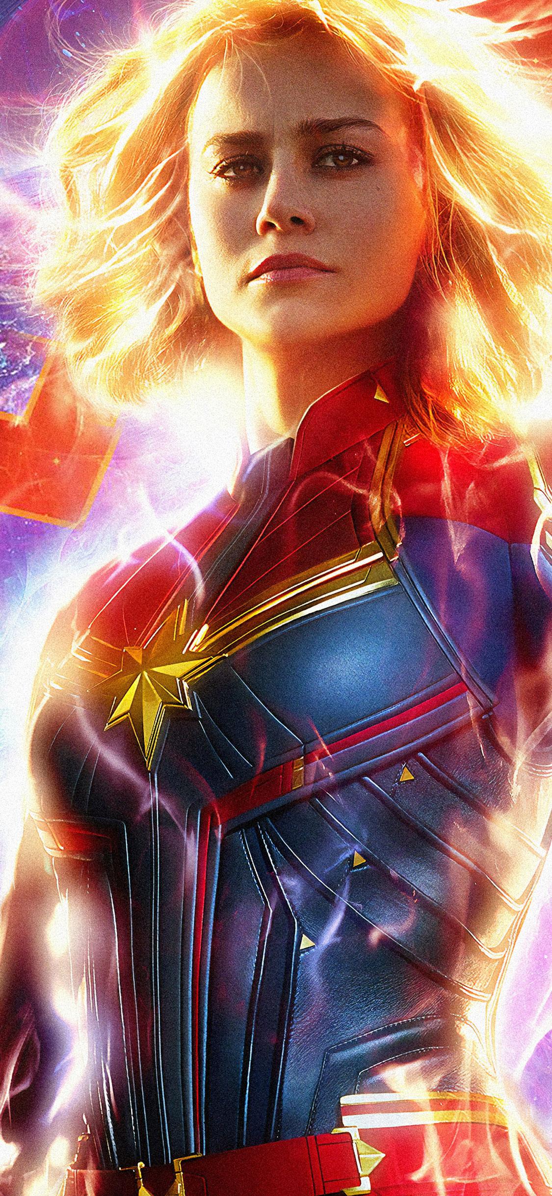 Captain Marvel iPhone X Wallpaper