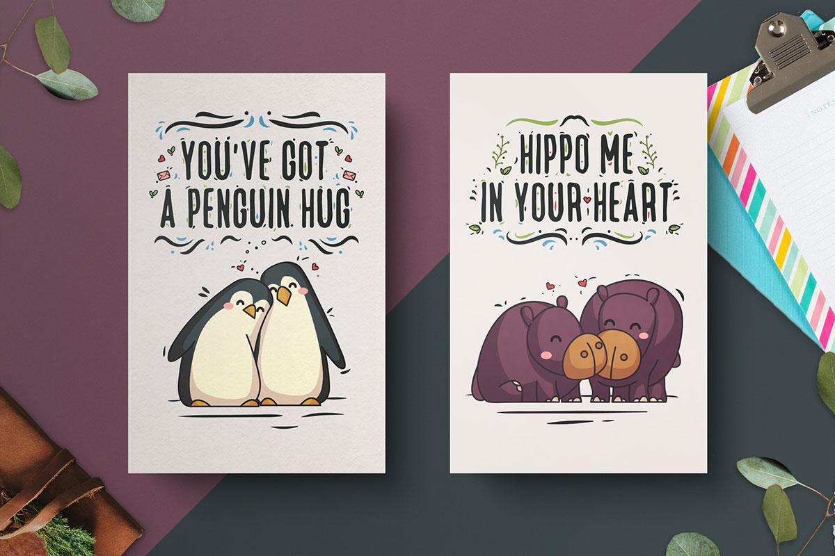 Free-Hand-Drawn-Valentine's-Day-Cards-7