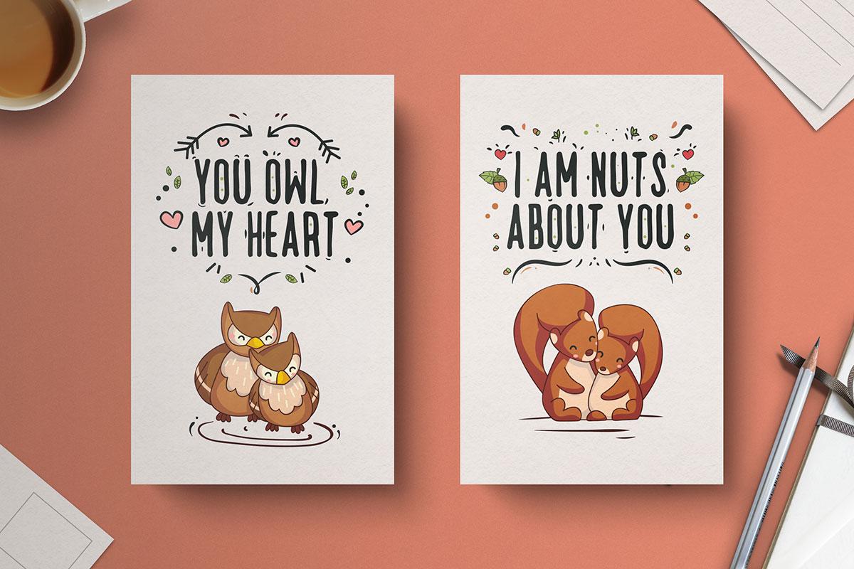 Free-Hand-Drawn-Valentine's-Day-Cards